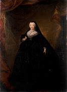Empress Elizabeth in Black Domino, 1748 (oil on canvas), Grooth, Georg Christoph (1716-49) / State Russian Museum, St. Petersburg, Russia / Bridgeman ...