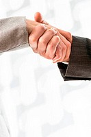 Conceptual Businessmen Shake Hand Sign