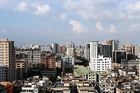 A top view of Segunbagicha area of the Dhaka city. Dhaka, Bangladesh. 27 October 2013. Photo by palash khan.