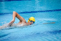 Swimmer breathing during front crawl