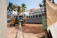 Construction site redevelopment of Galle Face hotel, Colombo, Sri Lanka, Asia