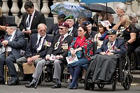 Atmosphere at the Service of Remembrance that is held at The Cenotaph in Whitehall to mark the 70th anniversary of VE Day in London. Credit: Euan Cher...