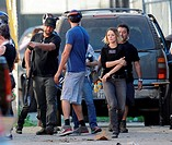 "Actress Rachel McAdams got hurt while filming an intense scene for the hit show """"True Detective"""" filming in downtown Los Angeles. Rachel seen holdin..."