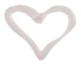Heart shaped moisturizer (cream) sample, isolated on white