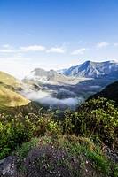 Fields in the crater of Pululagua Volcano, Pichincha, Ecuador