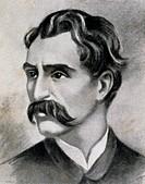 Portrait of the Italian composer Alfredo Catalani (Lucca, 1854-Milan, 1893), drawing. 19th century.  Lucca, Istituto Superiore Di Studi Musicali Luigi...