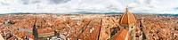 panoramic view of Florence, roofs of red tiles