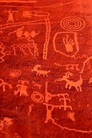 Ancient petroglyphs Valley of Fire