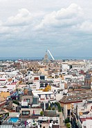 Aerial view of the city of Sevilla