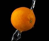 orange in water