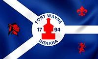 Flag of Fort Wayne, USA.