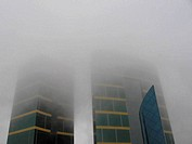 Towers in Fog, with