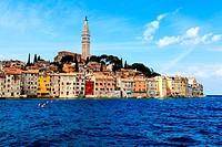 The City of Rovinj on Istria Peninsula in Croata Lit By Sun
