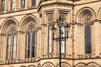 Detail on Town Hall, Manchester with Lamppost