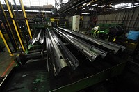 Production of crash barrier made of new material Magnelis at the steel company ArcelorMittal Ostrava (AMO) in Ostrava, Czech Republic, June 22, 2015. ...