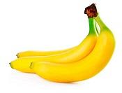 fresh banana fruits isolated on white