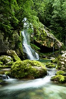 Slovenia, Triglav national park, waterfall,
