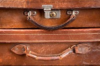 Old locked suitcases
