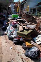 BANGKOK THAILAND - DEC10 : Garbage in home after the worst thai