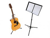 Guitar and Music Stand