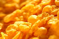 Corn flakes background