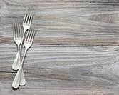 Three vintage fork