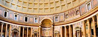 Pantheon-inside interior in Rome, Italy.
