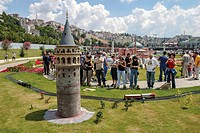 Istanbul - Turkey, July 27. People visit Miniaturk on July 27, 2003. Miniaturk is a miniature park situated shore of Golden Horn in Istanbul
