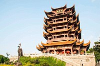 Yellow Crane Tower temple in China