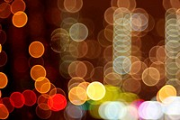 Abstract lights, flash circle, night city