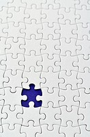 Plain white jigsaw puzzle.