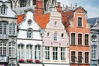 Ancient architecture in the Belgian city of Mechelen (Malines) close up.