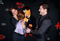 Opening night of the new Broadway play 'Hand to God' at the Booth Theatre - Arrivals Featuring: Avenue Q cast, Kate Monster, Stacie Bono, Princeton, S...