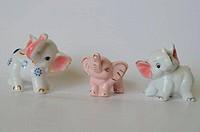 porcelain elephants for good luck