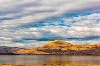 Lake Titicaca,South America, located on border of Peru and Bolivia It sits 3,812 m above sea level, making it one of the highest commercially navigabl...