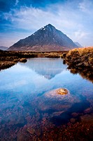Scottish highlands landscape mountain and river