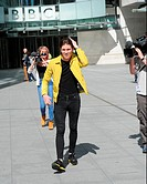 Joey Essex seen out in London shopping after filming for his educating Joey Essex ITV show around BBC Studios. Featuring: Joey Essex Where: London, Un...