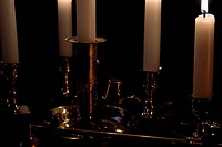 Various Lit Candles