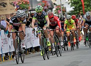 (150716) -- VANCOUVER, July 16, 2015 () -- Riders compete during the 42nd Gastown Grand Prix in Vancouver , Canada, Jul. 15, 2015. Sum of 237 professi...