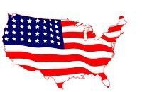 USA Map Flag Vector