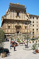 Piazza Bellini and Santa Catarina, Palermo, Sicily, Italy, Europe