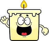 Happy Cartoon Candle