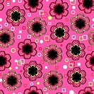 Abstract Flowers Pink Endless Seaml
