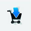 realistic design element: grocery cart, arrow