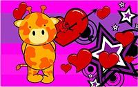 giraffe baby cartoon cute rose