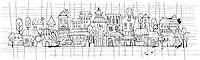 cartoon vector contour town