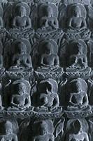 Miracle of Sravasti, Ajanta Cave No. 7, where the Buddha transfo