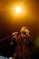 Ghostpoet on stage at WOMAD (World of Music, Arts and Dance) Festival at Charlton Park on 26/07/2015 at Charlton Park, Malmesbury. Persons pictured: G...