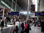 passengers at Kastrup Airport, Terminal 1,Copenhagen,Denmark.