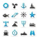 Marine and sea icons